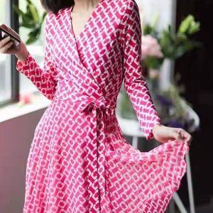 Diane Von Furstenberg Irina Silk Jersey wrap dress